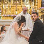 novia emocionada en la boda