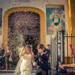 lluvia de arroz tras la boda