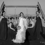 novia y damas en reportaje de bodas